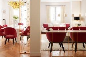 estilo modern glam salón comedor recibidor valencia reforma