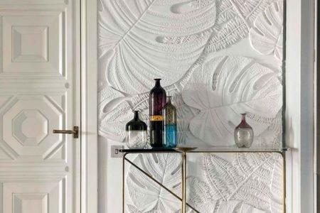 Decoración de paredes con panelados 3D.