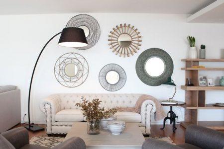 Como decorar tus paredes con espejos.